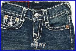 $150 NEW True Religion Jeans Kids Boys Billy Super-T Natural Dark Bootcut US 2-3