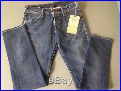 $229 NEW True Religion Jeans Women Cameron Boyfriend Dark Stretch Denims Italy