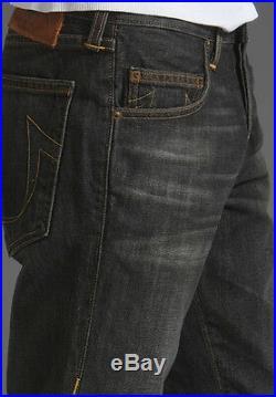 $246 NEW True Religion Jeans Mens Bobby Phoenix Vintage Black Straight Leg Denim