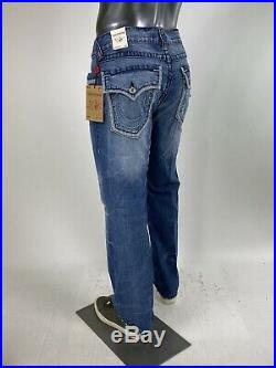 $249 Big T Illusion Outline True Religion Men Jeans 32 34 Big Stitch Super Blue