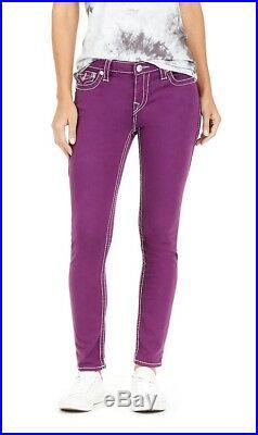 $249 Big T Super Skinny Amethyst True Religion Women Jeans Skinny 30 WBT3N96NBT