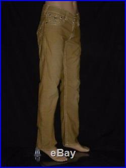 $249 Corduroy True Religion Men Corduroy Jeans Straw yellow 31 32 33 34 36 Big T