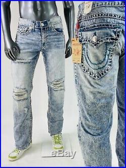 $249 Super T True Religion Men Jeans Super T 32 33 34 36 38 Teal Rope Stitch Meg