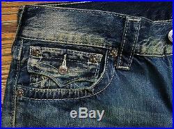 $310 NEW True Religion Jeans Size W34xL34 Straight 100% Cotton