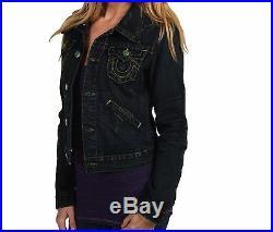 $319 NEW TRUE RELIGION JEANS Womens Jada Denim Jacket Vintage Dark US XS, Small