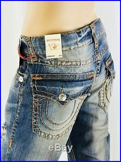 $329 Super T True Religion Men Jeans 31 32 33 34 36 38 40 Ripped Rips Destroyed