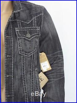 $369 Super T True Religion Men Trucker Jackets Super T Jimmy Jean Night Shadow
