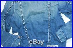 $416 True Religion Denim Red Super T Jacket XXXL 3XL XXXLARGE SLim Fit MXXQ59WN2