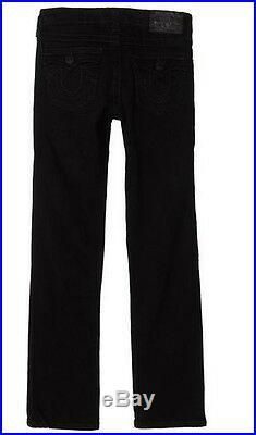 $99 NEW True Religion Jeans Kid Boys Jack Slim-Fit 5 Pocket Classic Black US 5-7