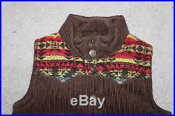 AUTH $150 True Religion Boy Puffer Serape Yoke Vest