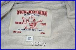 MSRP 149 NWT True Religion Classic Logo Hoodie Heathered Gray Sz M Medium