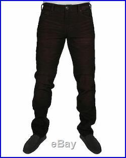 Men's Jeans True Religion Rocco Skinny Corduroy Moto MA904ZO1 BLACK Chili NEW