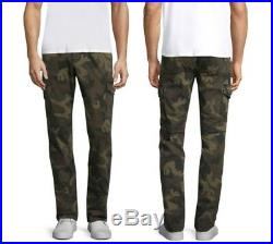 Men's True Religion Brand Jean Fashion Slim Cargo Pants EDH Vintage Green Camo