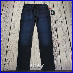 Men's True Religion Jeans 32 x 32 Rocco Skinny Leg Navy Blue RRP £129 BNWT