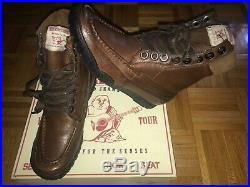 Mens True Religion Riva Dark Brown Leather Boots Sz 10 Brand New Timberlands