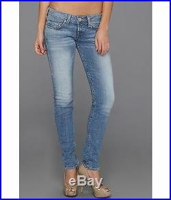 NEW $194 TRUE RELIGION Jeans Stella Skinny Lowrise Blue Denim 25, 26, 32 x 32