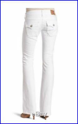 NEW $196 True Religion Brand Jeans Women Becky White Lowrise Bootcut 24, 25 x 34