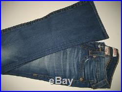 NEW $198 True Religion Brand Jeans Womens Becky Petite Boot Cut Blue Wash 24-26