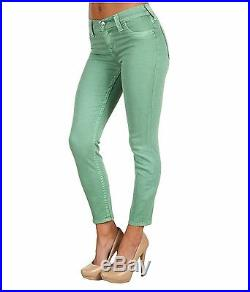 NEW $198 True Religion Jeans Brooklyn 29 x25 MidRise Skinny Legging Emeral Denim