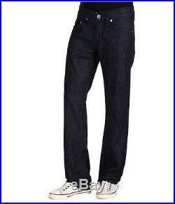 NEW $224 True Religion Jeans Mens Bobby Lowrise Straight Dark Blue Denims 32-40