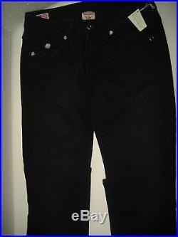 NEW $240 True Religion Jeans 25 x 35 Julie Skinny Crystal Lowrise Black Denims