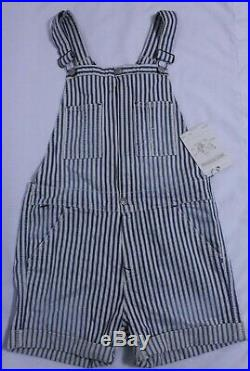 NEW $248 True Religion Small Molly Denims Shortalls Overalls Jeans Blue Stripes
