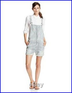 NEW $248 True Religion Womens Molly Denims ShortAlls Overall Jeans Blue Stripes