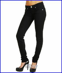 NEW $319 True Religion Jeans Stella Beaded Black Skinny Lowrise Denims 30, 31