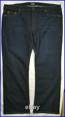 NEW Men's True Religion Big & Tall Relaxed Straight Dark Wash Jeans W 52 x L 33