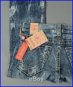 NEW Men's True Religion Jeans Straight STRETCH Earthworm BIG T Size 36