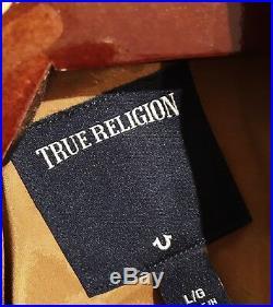 NEW NWT TRUE RELIGION LEATHER JACKET Motorcycle Biker CELEBRITY PLUS SIZE L