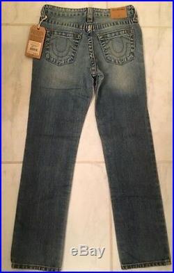 NEW TRUE RELIGION Girls 8 Geno Vintage Sky Gold Jeans & T. R Batik TEE $178 WithPJs