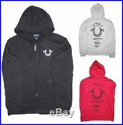 NEW TRUE RELIGION Men Fashion Big Horseshoe logo Casual Hoodie Sweater Jacket