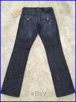 NEW TRUE RELIGION Mens Jeans RICKY BLACK Size 28 x33 BNWT