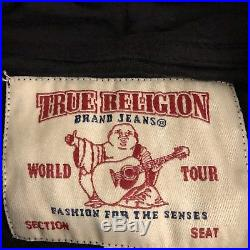 NEW TRUE RELIGION Mens Velour SWEATSUIT, Hoodie & Jogger Sweatpant, Black $148