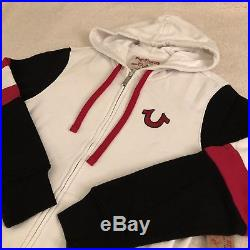 NEW TRUE RELIGION SWEATSUIT Mens Buddha Logo Hoodie & Sweatpants SET, White $318