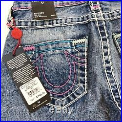 NEW True Religion Audrey Slim Boyfriend Super T Jeans Womens Size 23 / 00 Blue