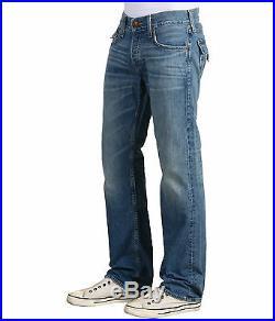 NEW True Religion Brand Jeans Men 30-31 Ricky Snake Eyes Straight Leg Blue Denim