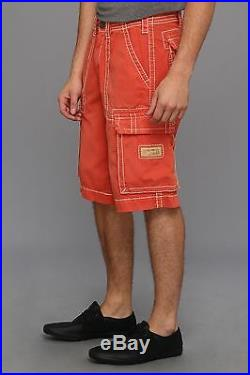 NEW True Religion Brand Men's Isaac coral cargo shorts 30 31 32 34 36 38 40