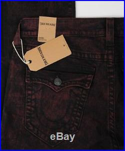 NEW True Religion Jeans GENO Flap SE Distressed Relaxed Slim size 36 Men's Red
