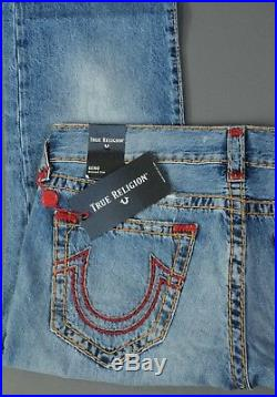 NEW True Religion Jeans GENO no Flap Super T Distressed Relaxed Slim size 34