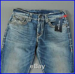 NEW True Religion Jeans RICKY W Flap Super T Relaxed Straight Size 36 Men's