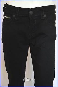 NEW True Religion RICKY SUPER T STRAIGHT Jeans For Men SZ 34 in RIDER BLACK