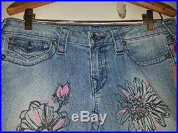 NEW WithTAGS True Religion Indigo Dream Painted Flowers Skinny 30 Floral print