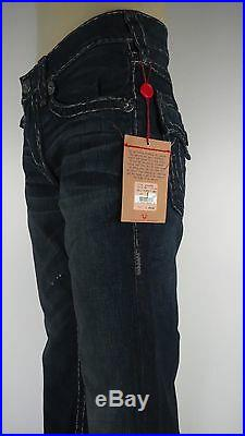 NWT True Religion Billy super T Men, Cyclone, Size 32, Retail $319