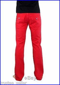 NWT True Religion Brand Men's Core Ricky Straight Leg True Red Jeans Pants