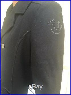 NWT True Religion Men's Hol Wool Pea Coat Size Medium MNEB361WC2 $392 Retail+tax