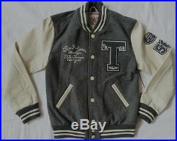 NWT True Religion Mens Richie Varsity Letterman Jacket