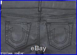 NWT True Religion Women's The Runway Legging Super Skinny Coated Black Jeans