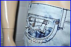 New $249 True Religion 100% Cotton Skinny Flap Midnight Big T Men`s Jeans